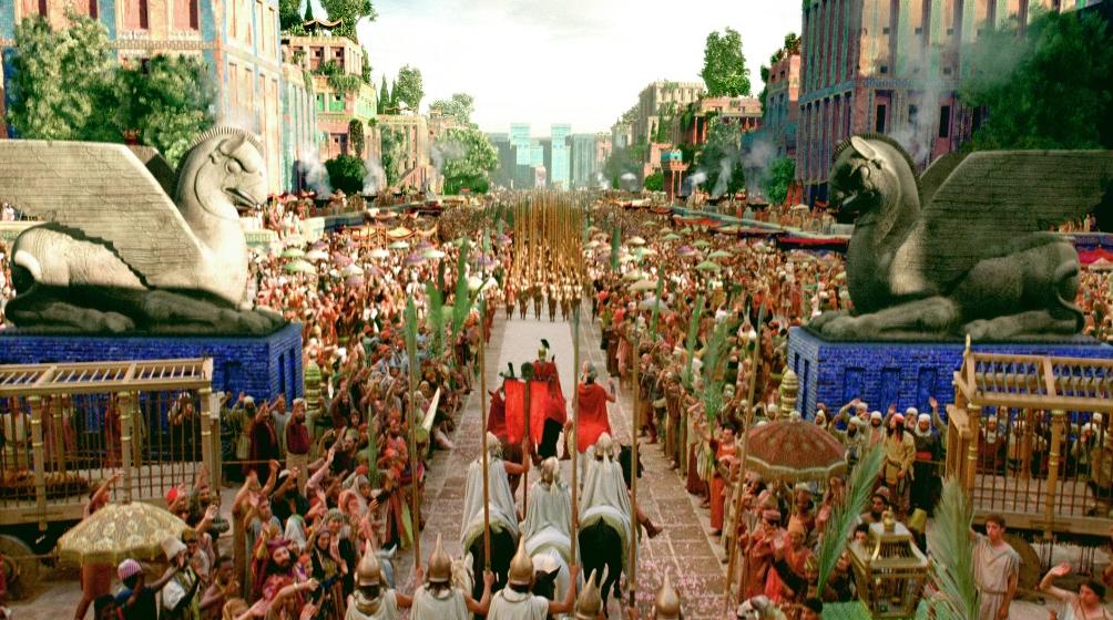 Screenshot uit de film Alexander: de intocht van Alexander de Grote in Babylon. (Foto: A-Film)