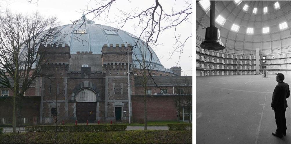 De koepelgevangenis van Breda. (foto's: Wikimedia)