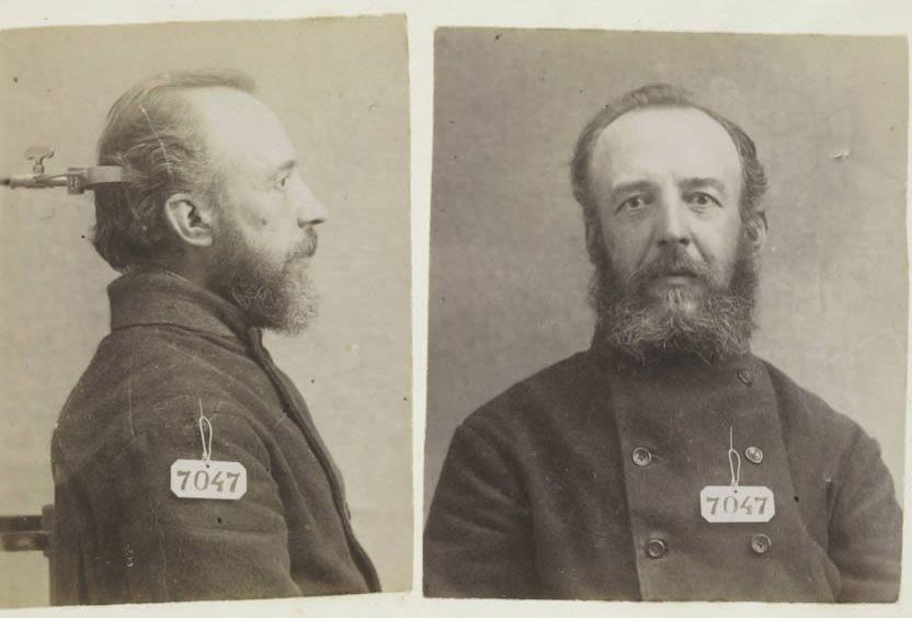 Coenraad Antonie Dona Pieck, oom van Anton Pieck, in 1896 geregistreerd op een signalementkaart van Veenhuizen
