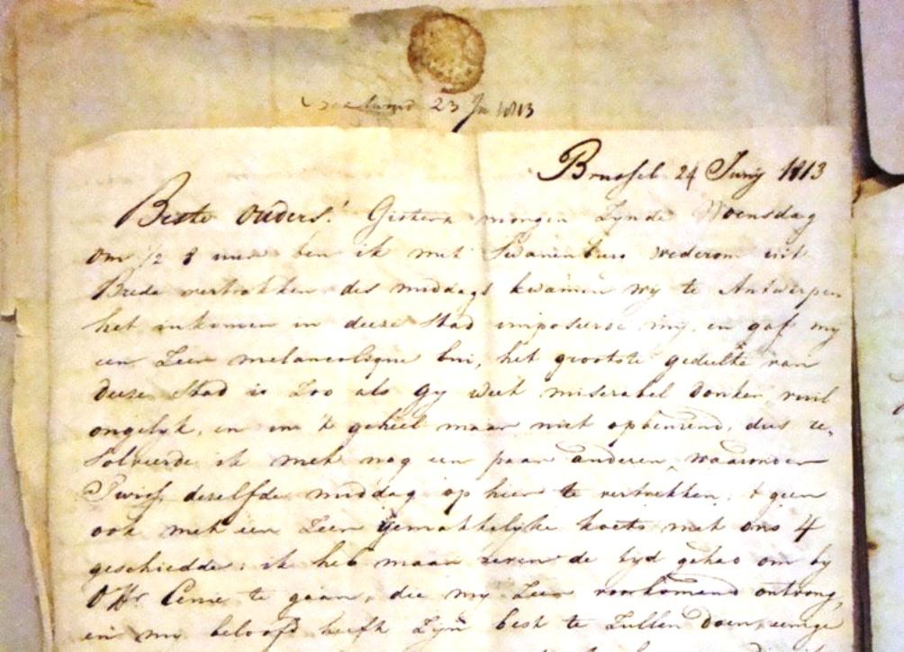 Brief van een van de Rotterdamse Gardes
