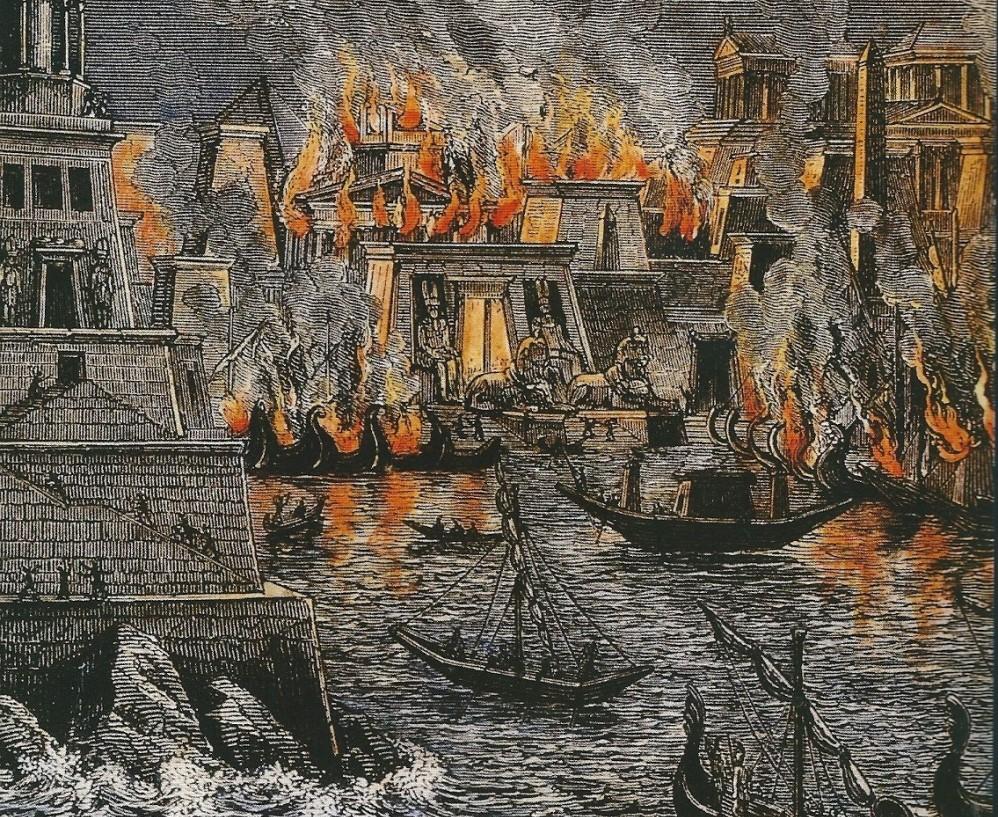 11.07.11.Bibliotheek Alexandrie - brand