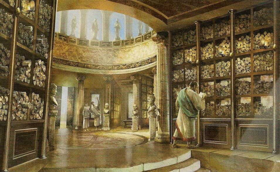 Een kijkje in de Bibliotheek van Alexandrië