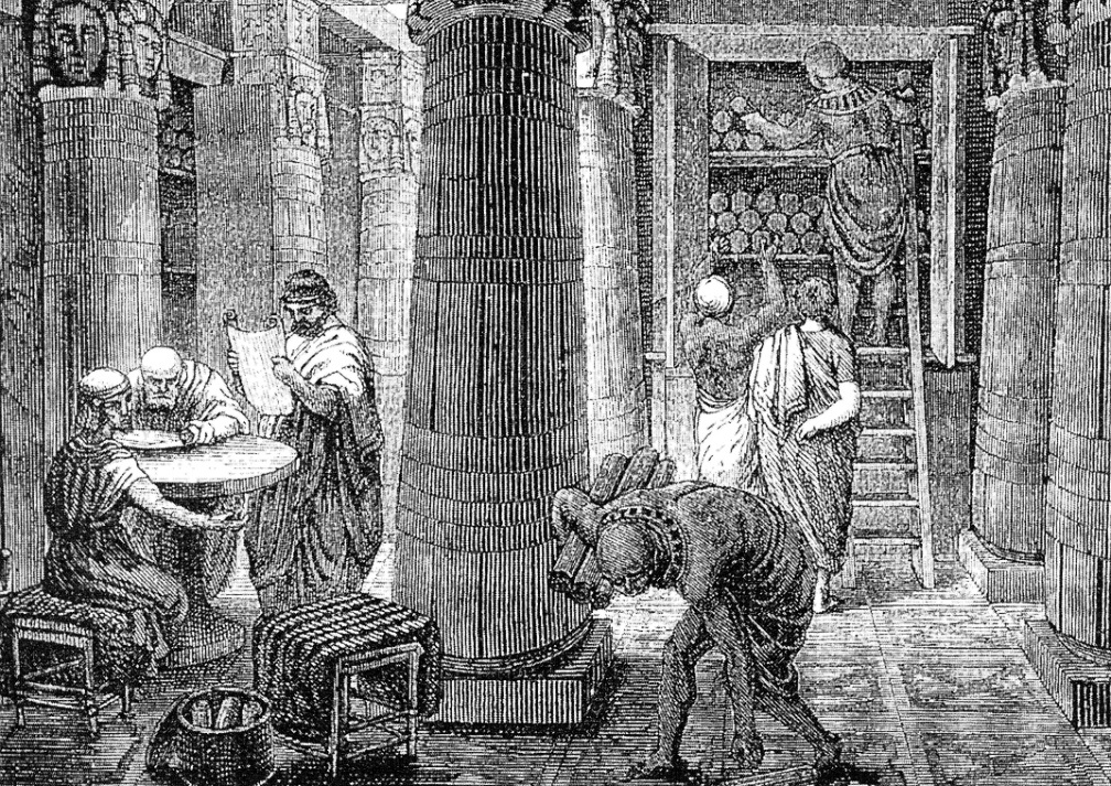 11.07.11.Bibliotheek Alexandrie - tekening