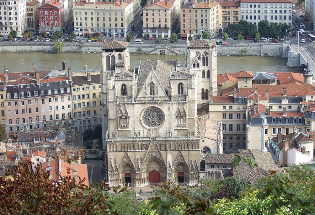 Kathedraal St. Jean gezien vanaf de Notre-Dame de Fourvière
