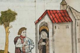 Ommuurde vrouwen in de middeleeuwse stad