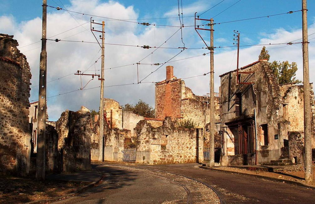 het dorpje Oradour-sur-Glane