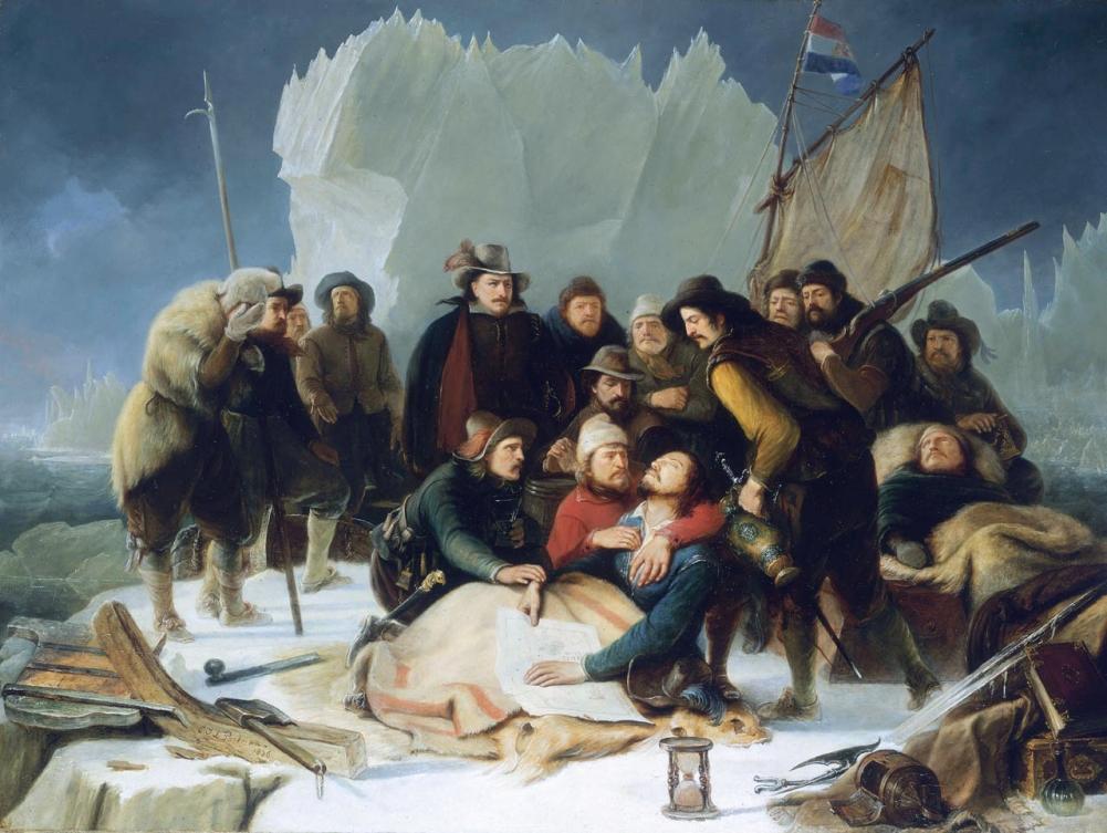 De dood van Willem Barentz op 20 juni 1597, schilderij door Christiaan Julius Portman.
