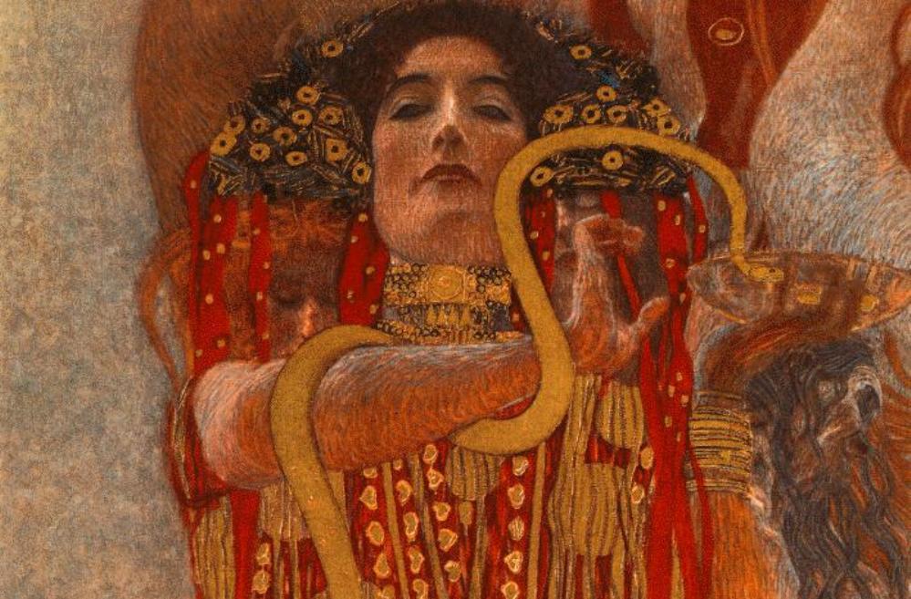 Hygieia verbeeld in het werk Medicine van Gustave Klimt.
