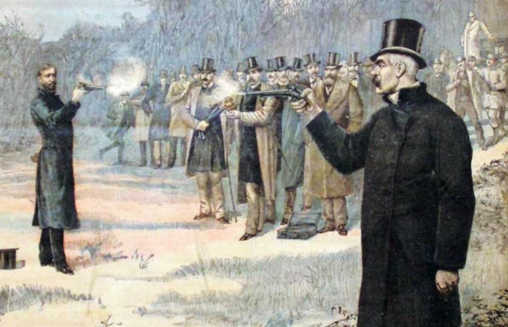 Illustratie uit Le Petit Journal van een duel tussen Paul Déroulède en Georges Clemenceau op 7 januari 1893. (foto: Wikimedia)