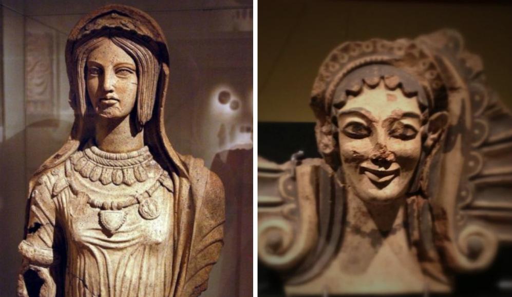 Twee Etruskische vrouwen.