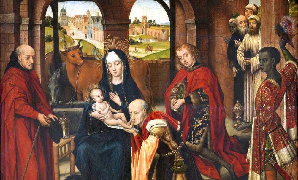 Aanbidding van de wijzen, ca. 1470-1480, van Rogier van der Weyden.