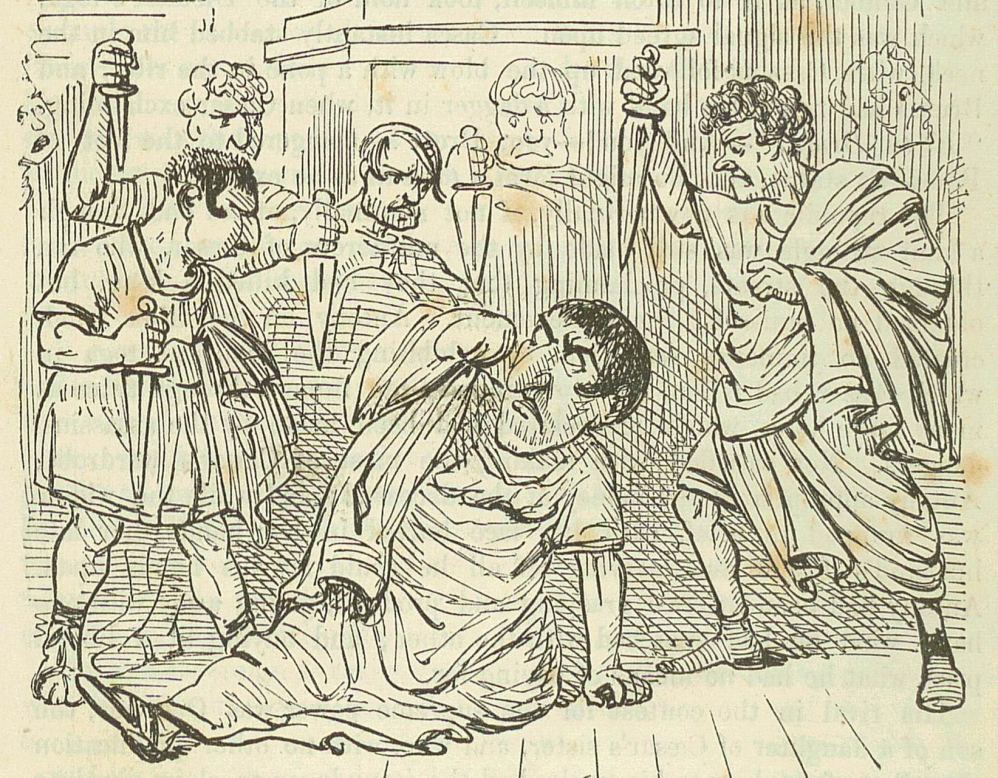 Tekening door John Leech, uit: The Comic History of Rome by Gilbert Abbott A Beckett'. (foto: Wikimedia)