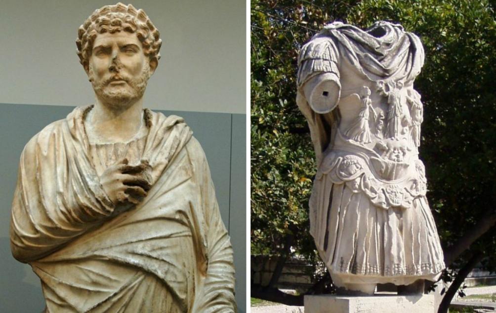 12.02.08.Romeinse Griekje Hadrianus - beelden