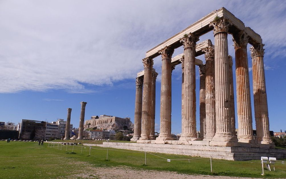 12.02.08.Romeinse Griekje Hadrianus - tempel Zeus