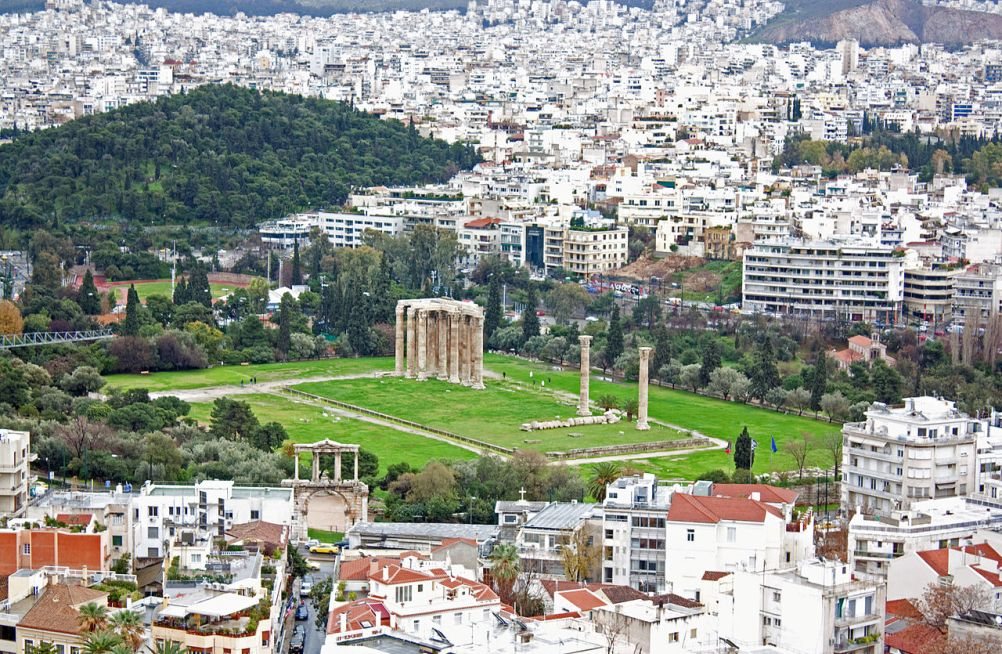 De Boog van  Hadrianus in Athene. (foto: Wikimedia)