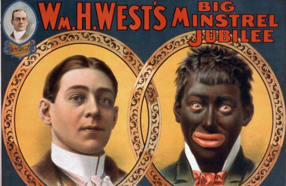 Poster van een minstrel-optreden door de komiek Billy Van uit 1900