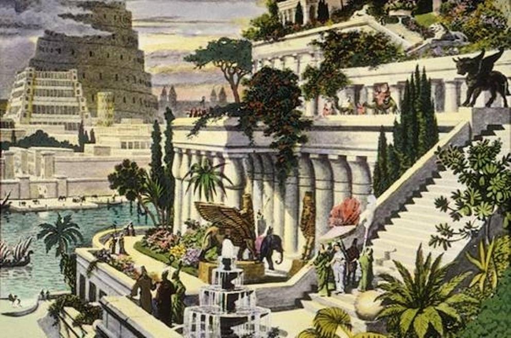 Een interpretatie van de Hangende Tuinen van Babylon. (foto: Wikimedia)