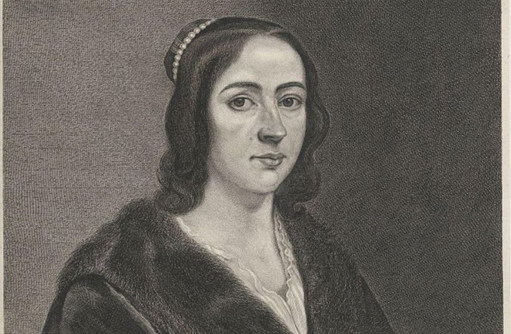 Anna Maria van Schurman door Jonas Suyderhoef, rond 1650. (foto: Wikimedia)