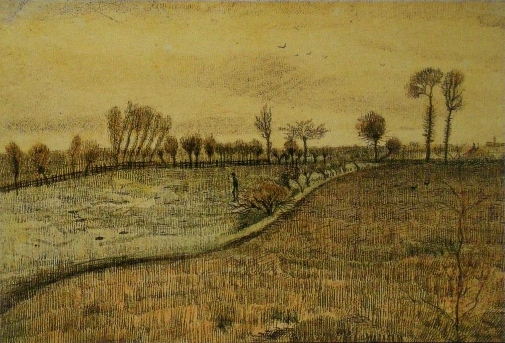 Landschap in Etten (1881) door Vincent van Gogh.  (foto: Wikimedia)