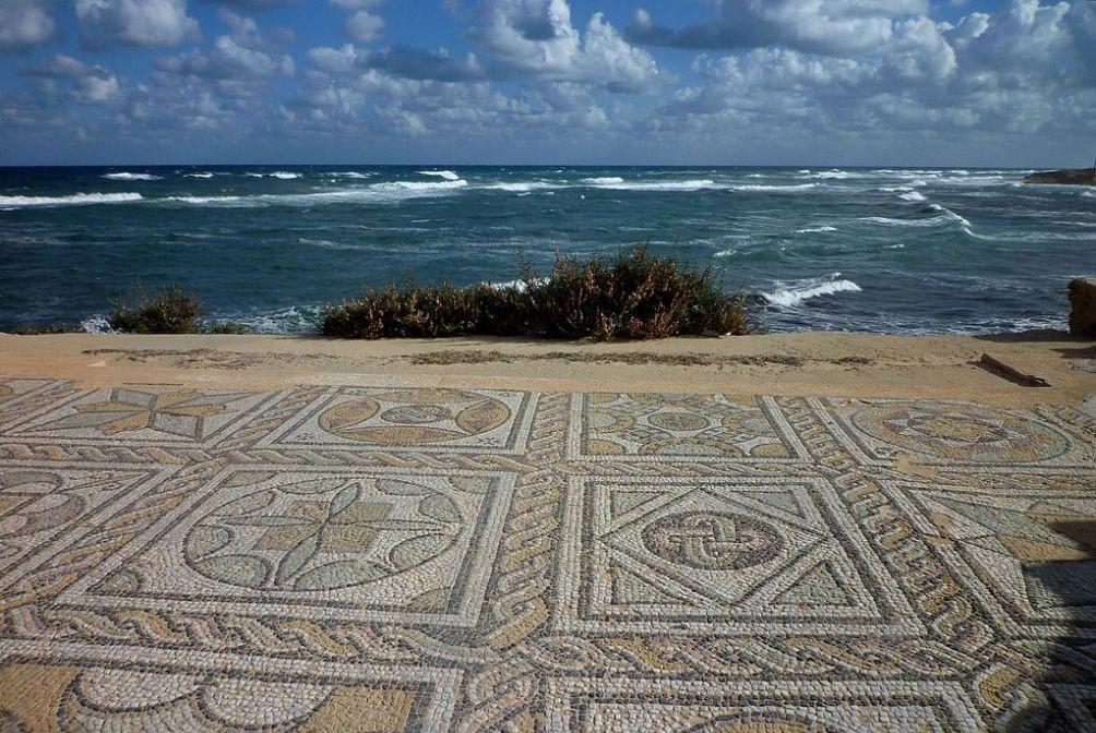 Romeinse mozaïeken in Sabratha; een van de Romeinse steden in Libië. (foto: Wikimedia)