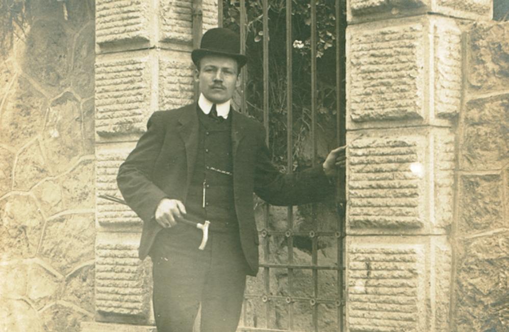 Hendrik Bolhuis in Monte Carlo, jaartal onbekend. (foto: Maritiem Museum Rotterdam)