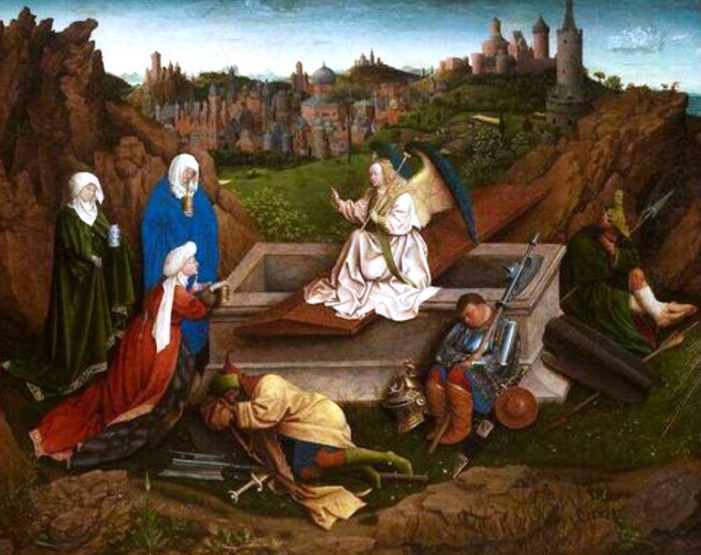 De drie Maria's aan het graf (1425-1435), geschilderd door Jan van Eyck (foto: Museum Boijmans Van Beuningen, Rotterdam)