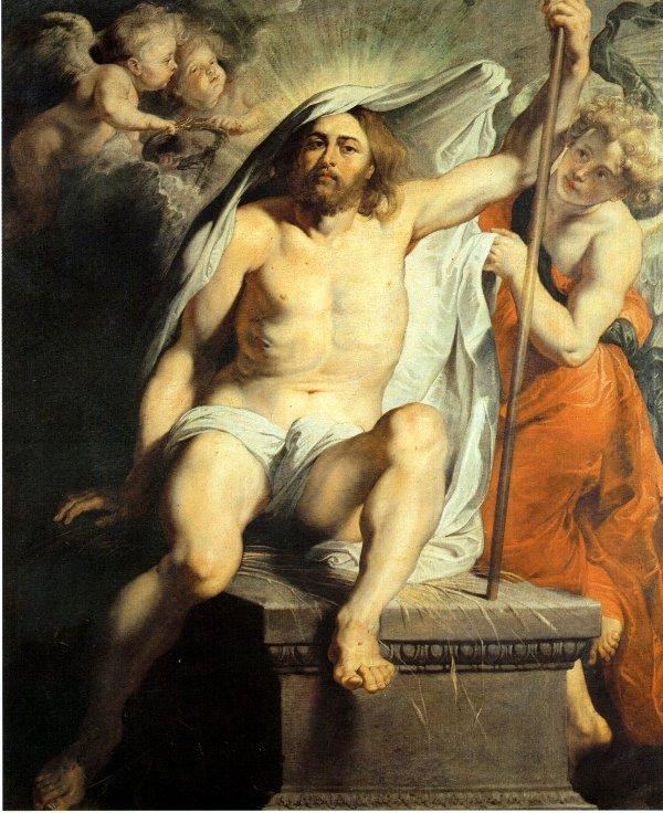 Peter Paul Rubens (1577-1640) schilderde een liggende Christus op een gesloten sarcofaag. (foto: Wikimedia)