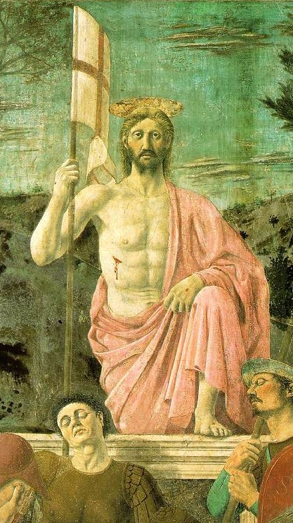 De Opstanding van Christus (detail) uit 1463 door Piero della Francesca. ( foto: Wikimedia)