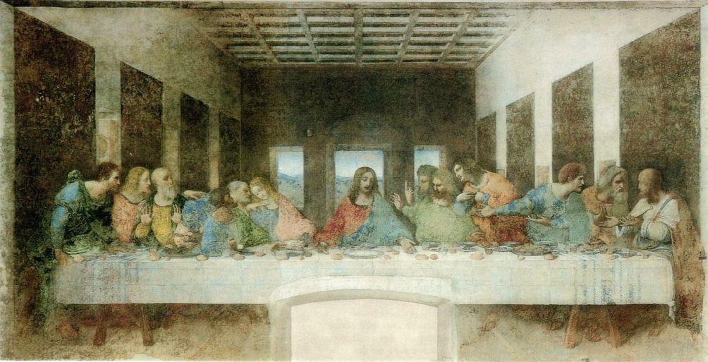 Het Laatste Avondmaal (1498) door Leonardo da Vinci in de Santa Maria della Grazie (foto: Wikimedia)