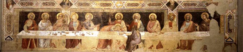 Fragment van de muurschildering (ca. 1360 - 1370) van Taddeo Gaddi in de Santa Croce in Florence (foto: Wikimedia)