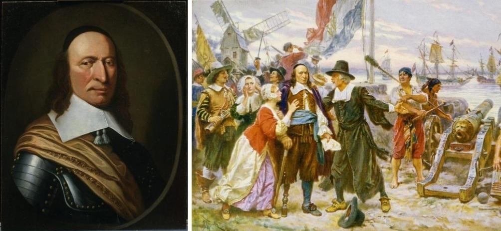 Peter Stuyvesant en de val van Nieuw Amsterdam, door de Amerikaanse kunstenaar Jean Leon Gerome Ferris