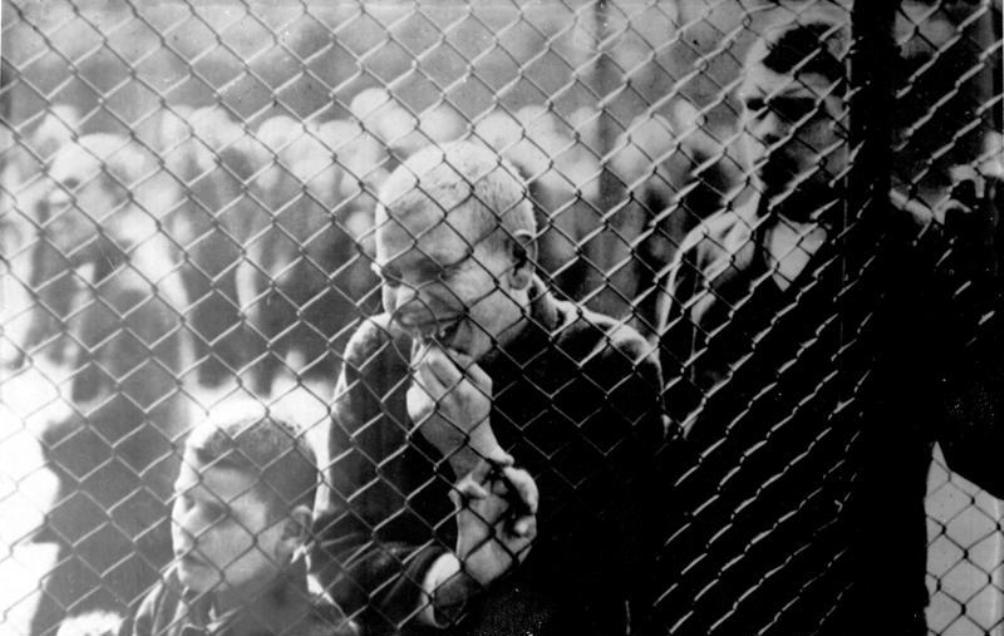 Zwakzinnige jongen in een een psychiatrische kliniek in 1934.  (foto: Bundesarchiv)