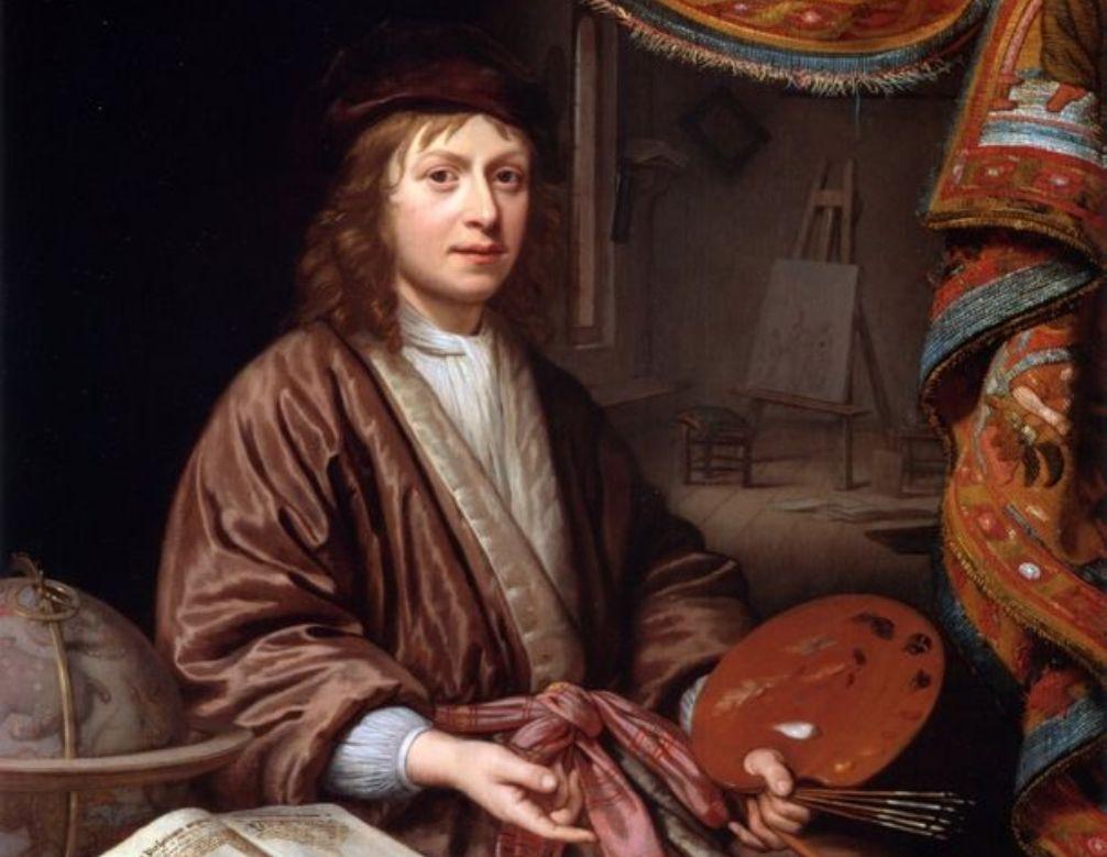 Zelfportret van Michiel van Musscher.