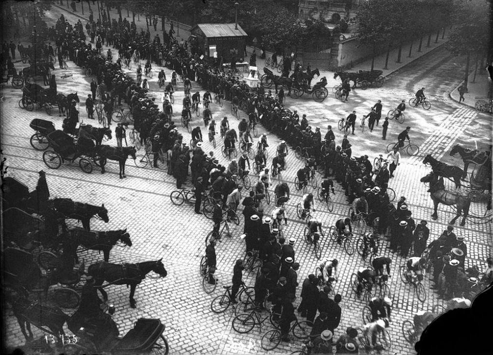 De Tour de France in 1906. Collectie: Bibliothèque nationale de France.