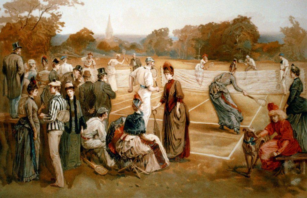 Tennisbaan in 1887. (foto: Wikimedia)