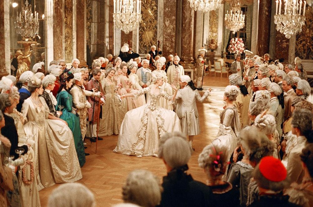 Beeld uit de film Marie Antoinette van regisseuse Sofia Coppola.