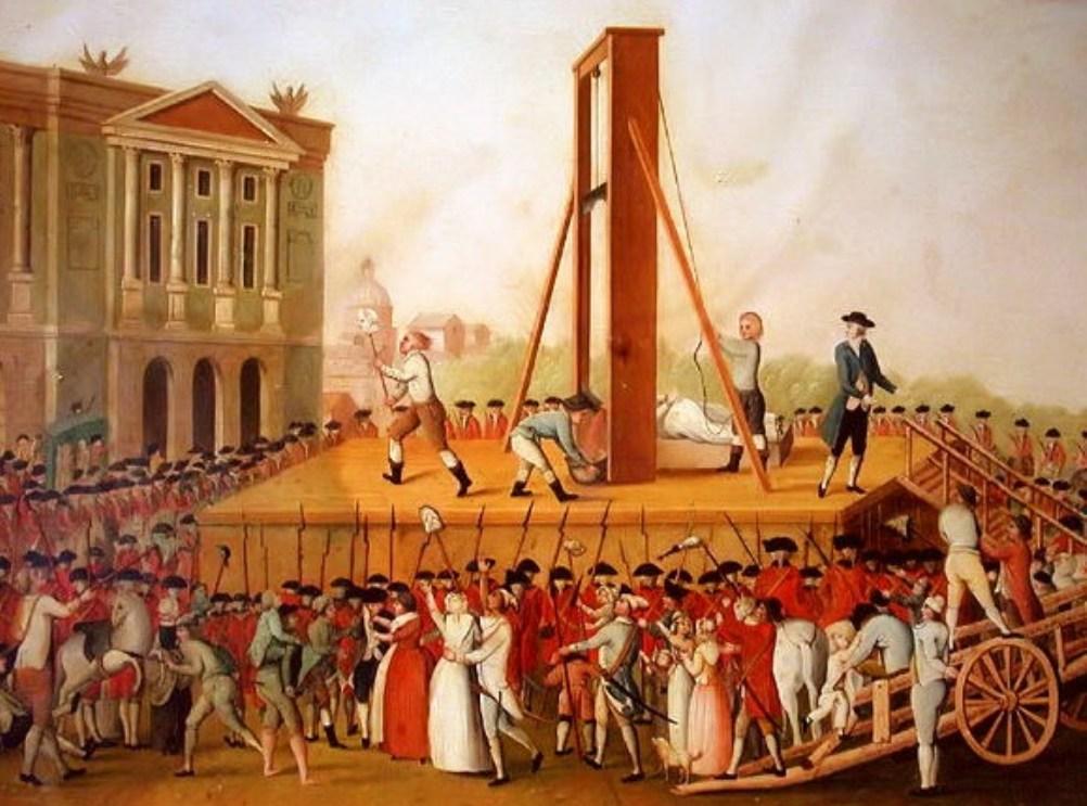 Publieke executie van Marie-Antoinette op 16 oktober 1793.