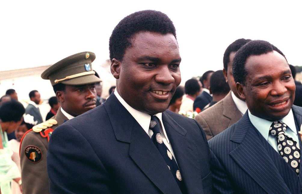 Juvénal Habyarimana (Andrews Air Force Base, Maryland, USA - 1980)