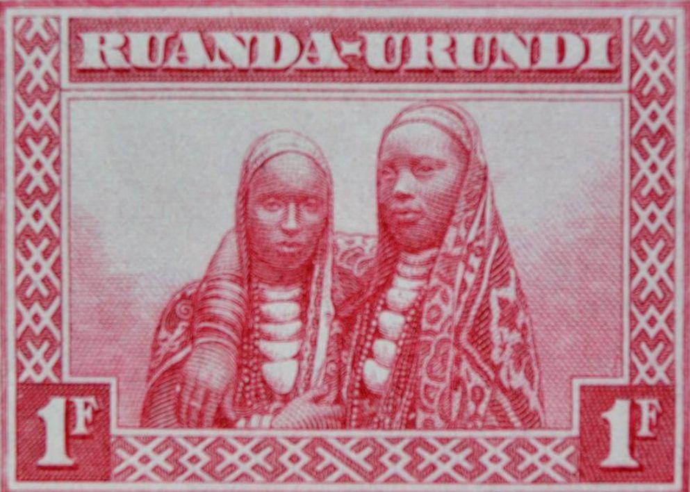 Ruanda-Urundi  postzegel uit 1931.