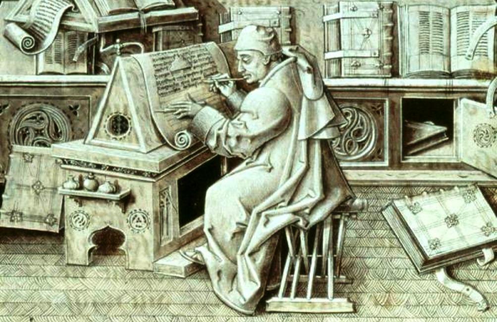 Volgens een mythe is de Codex Gigas in één nacht geschreven door een benedictijner monnik. Voor dit knappe staaltje werk had hij echter wel de hulp van Satan nodig. (foto: Wikimedia)