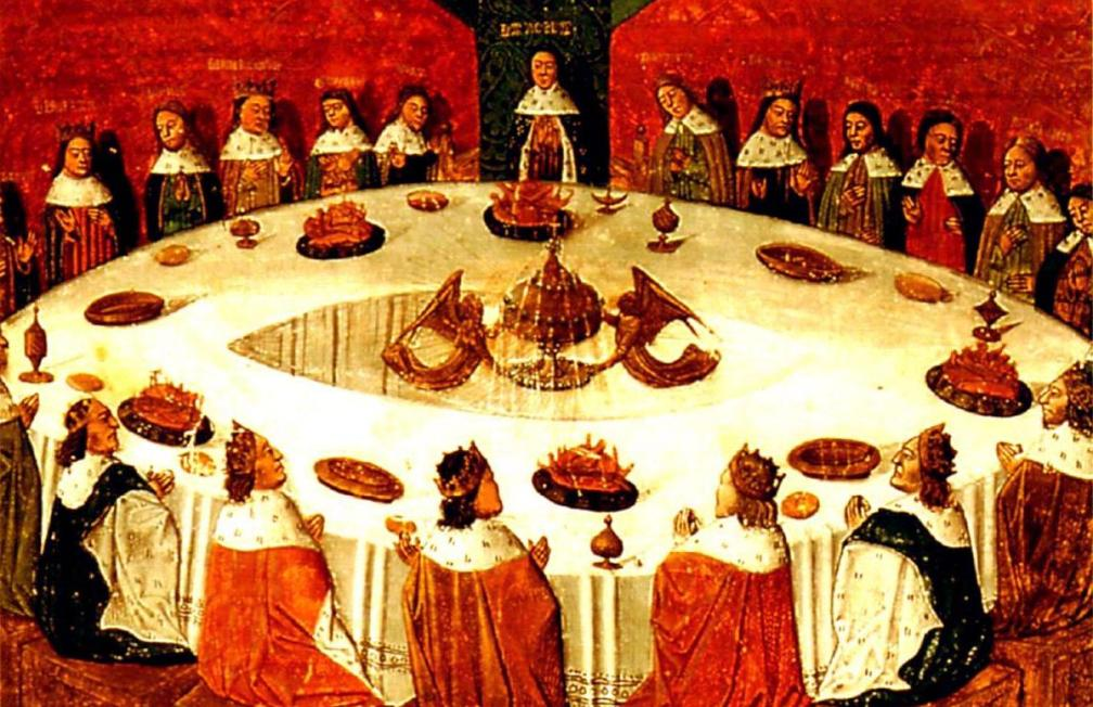 Arthur en de ridders van de ronde tafel (foto: Wikimedia)