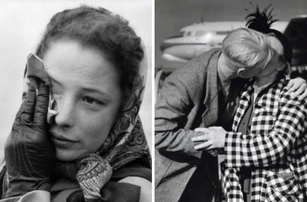 Tranen bij vertrek van familie en vrienden naar Nieuw-Zeeland. Nederland, 1953. (foto: Nationaal Archief / Flickr Commons)