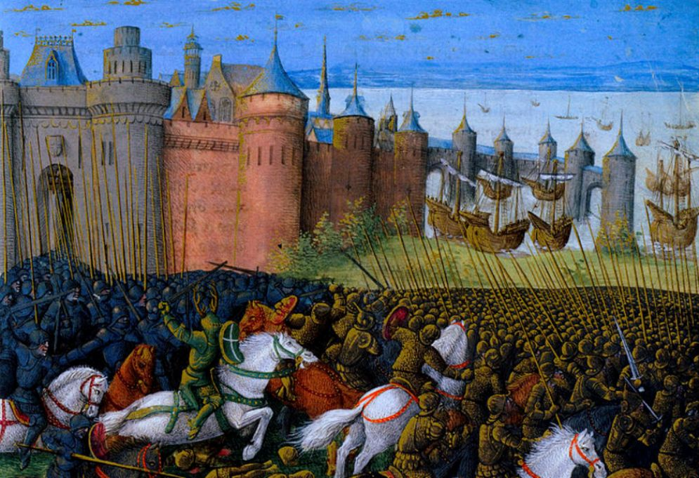 De Slag bij Tyrus, Libanon in 1187.