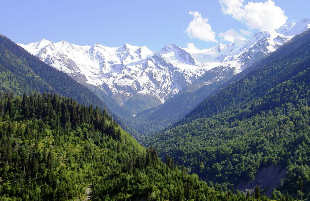 De overweldigende natuur van Svaneti. (foto: Wikimedia)