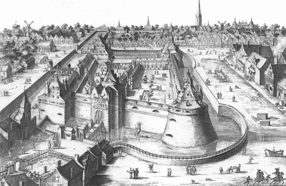 Ets van kasteel Vredenburg uit de zeventiende eeuw. (foto: Europeana.eu)