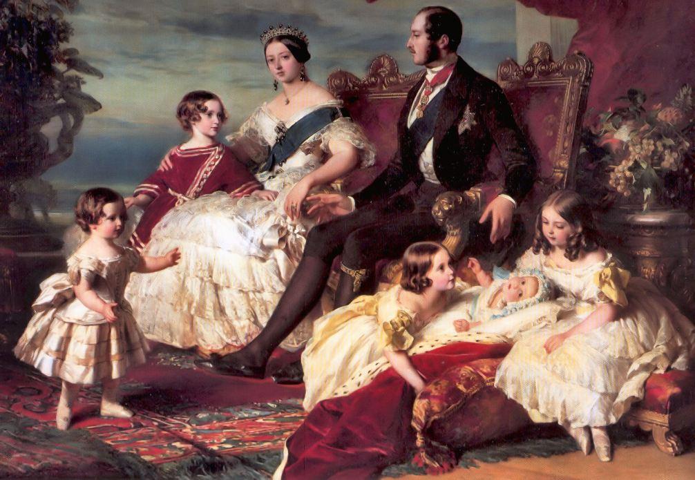 Het jonge gezin van koningin Victoria en prins-gemaal Albert in 1846. Na 6 jaar huwelijk had Victoria al vijf kinderen gekregen. (Foto: Wikimedia)