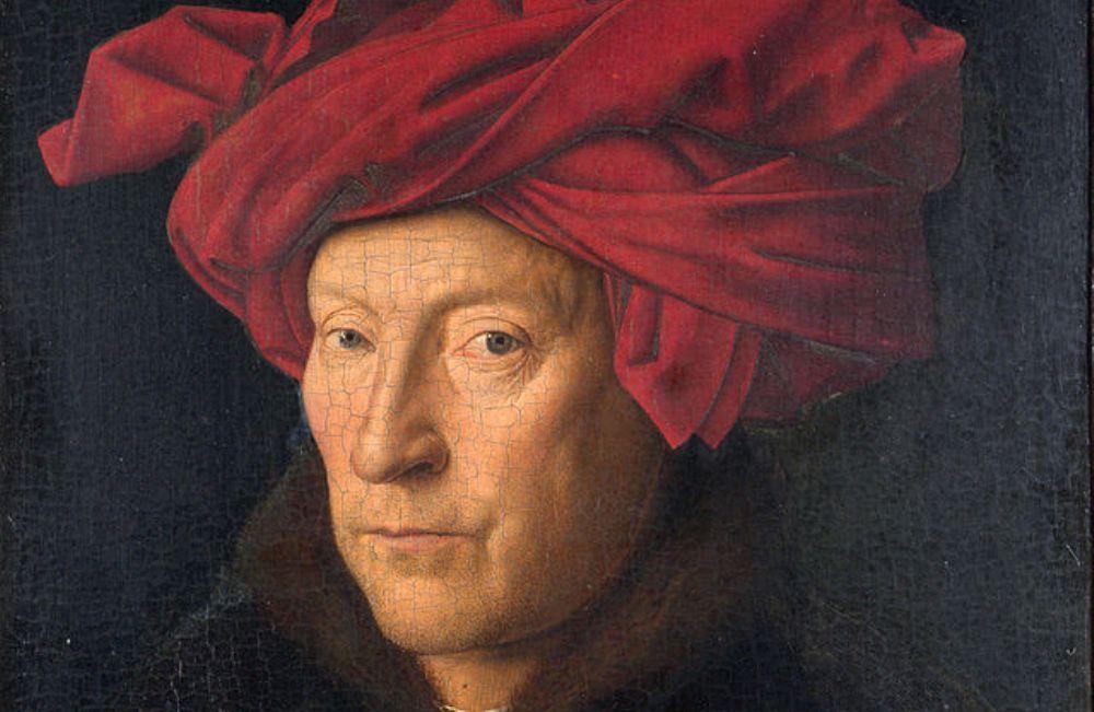 De Man met de rode tulband: vermoedelijk zelfportret van Jan van Eyck. (foto: Wikimedia)