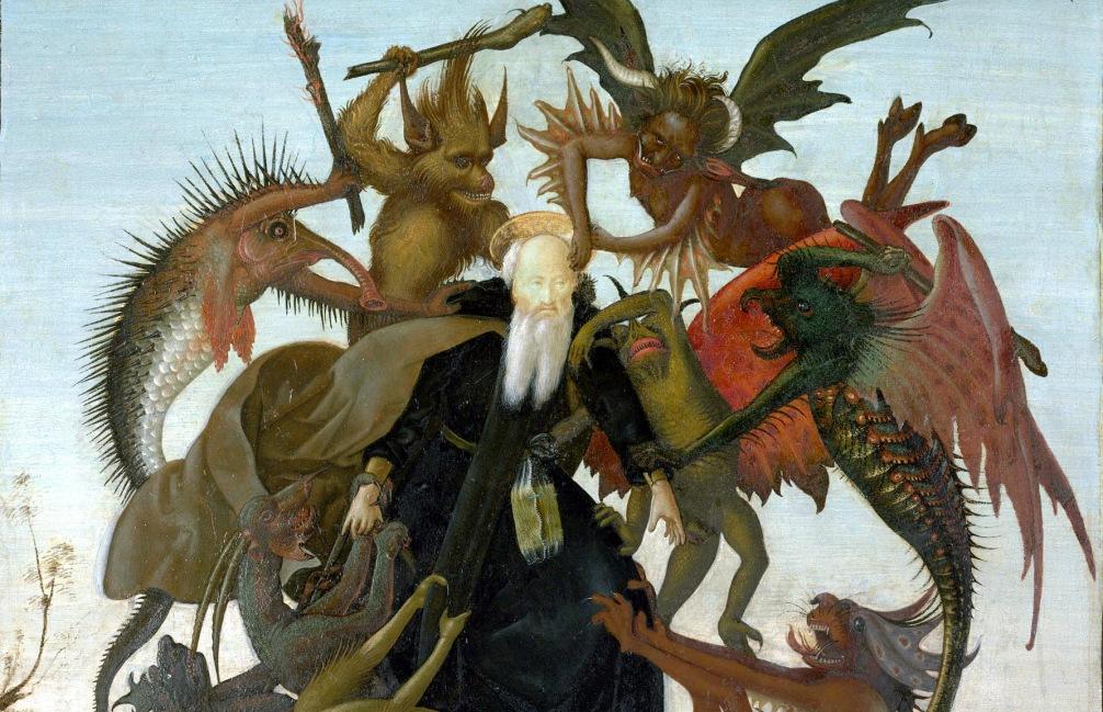 De verzoeking van de Heilige Antonius uit 1487-1488 is het vroegst bekende schilderwerk van Michelangelo. (Foto: Wikimedia)