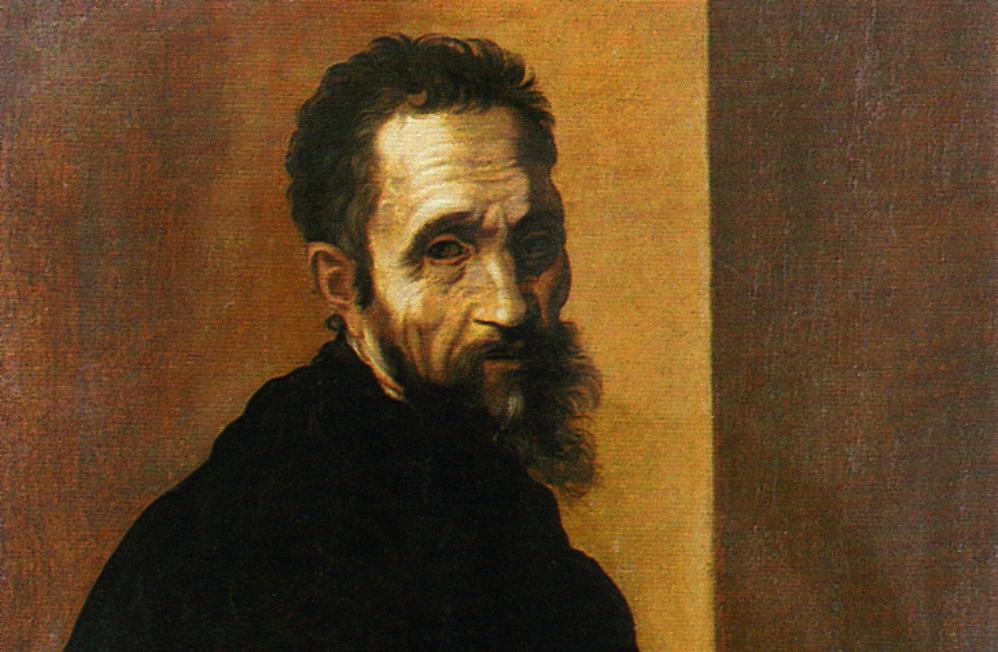 Portret van Michelangelo op 60-jarige leeftijd door Jacopino del Conte. (Foto: Wikimedia)