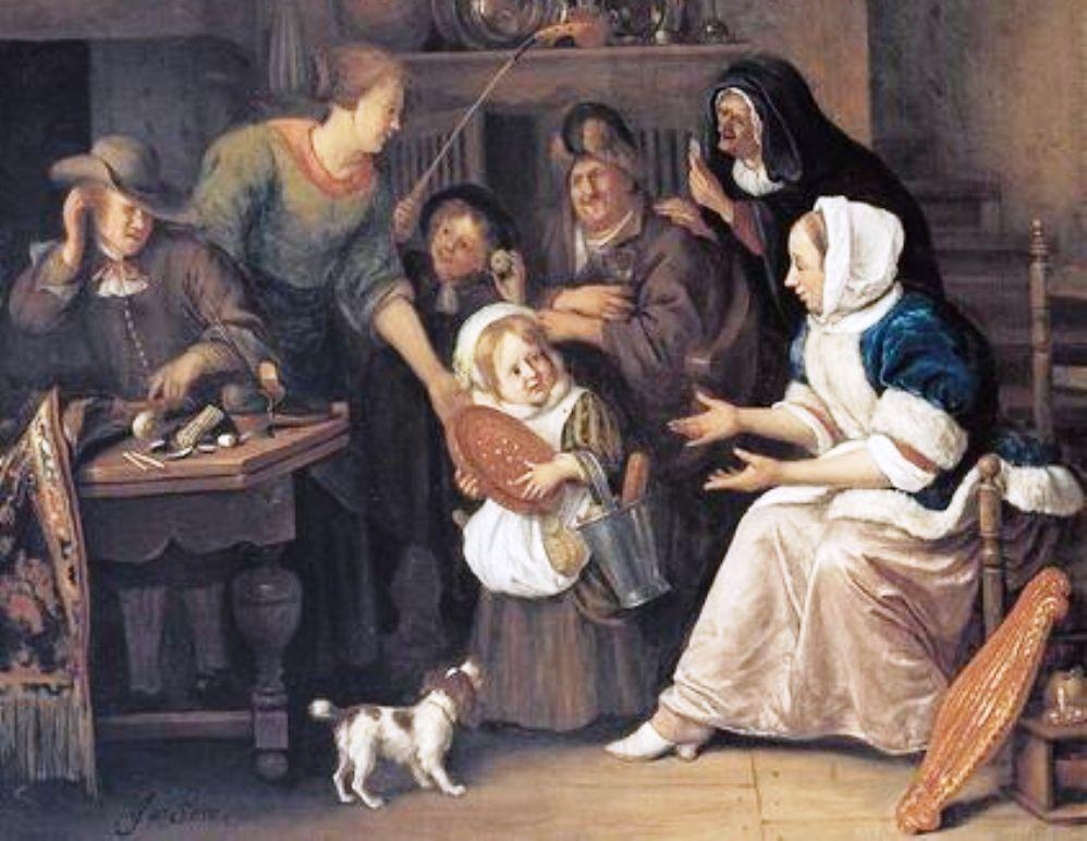 Een ander schilderij van Jan Steen dat het Sint Nicolaasfeest verbeeldt. (Collectie Boijmans van Beuningen)